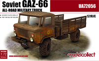Afbeelding van soviet GAZ-66 all-road military truck (2 pieces inside)
