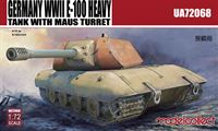 Image de Germany WWII E-100 Heavy Tank with Mouse turret
